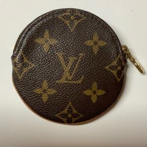 AUTHENTIC Louis Vuitton Round Coin Purse